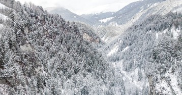 Виадук Ландвассер в Швейцарии
