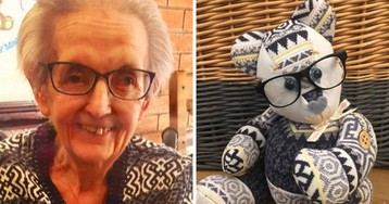 Woman Turns Sentimental Clothes Into 'Memory Bears'