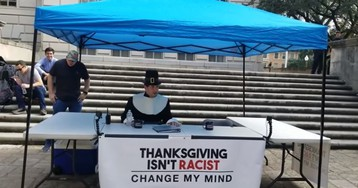 WATCH: Thanksgiving Isn't Racist: Change My Mind