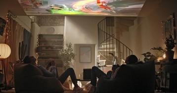 Проекция на потолок: впечатления после недели использования проектора, поставленного «на торец»