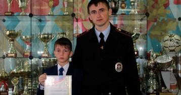 10-летний сын полицейского спас потерявшегося в лесу ребенка-инвалида