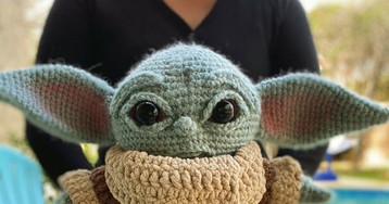 Baby Yoda amigurimi, a crocheted cutie by Allison Hoffman