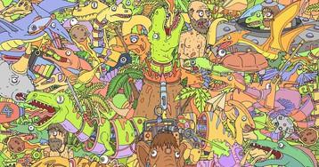 Киану, Сквидвард, Гомер и все-все-все. Пикчер поместил мемных парней на один арт, и найти каждого — тру-квест