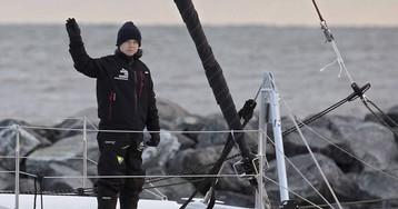 Viento en popa y comidas prenavideñas: las últimas horas de Greta Thunberg antes de pisar tierra