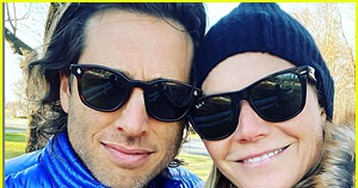 Gwyneth Paltrow & Husband Brad Falchuk Bundle Up in Cute Fall Selfie
