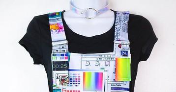 Vaporwave overalls