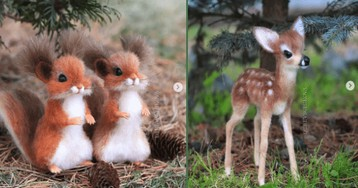 Russian Artist Creates Adorable Wool Animals That Look Like They Came Out Of a Disney Movie