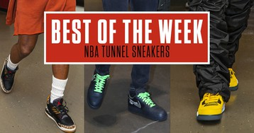 Best Sneakers in the NBA Tunnel This Week: Off-White x Nike, 'Lightning' Air Jordan IV & More