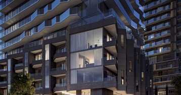 'untitled' residential towers in toronto are a visual abstraction of a pharrell williams song