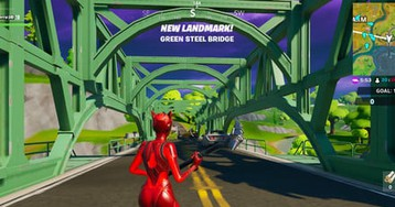 Fortnite chapter 2 week 9 guide: Dance in front of green, red, & yellow bridges