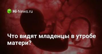 Что видят младенцы в утробе матери?