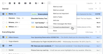 How to Send Multiple Emails as Attachments in Gmail