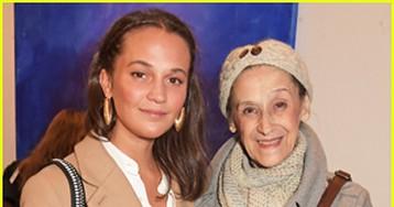 Alicia Vikander Checks Out Irene Petrafesa Art Exhibit with Mother Maria!