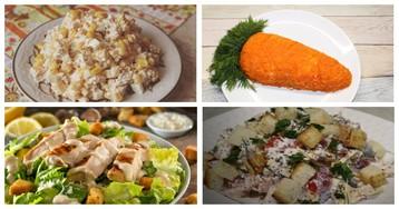 5 рецептов салатов для любителей курицы