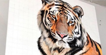 Larger-Than-Life Paintings Capture the Majestic Beauty of Wildlife We Need to Protect