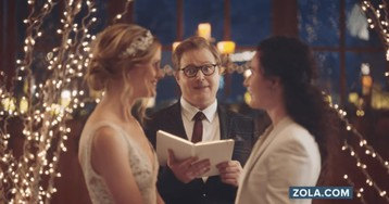 People call for Hallmark Channel boycott after network drops ads that feature brides kissing