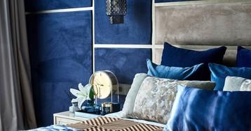 Интерьер недели: светлая трешка с синей спальней