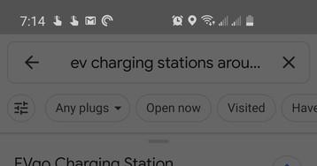 Google Maps теперь может показывать зарядные станции для электрокаров с нужным типом разъема