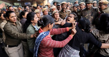 "Italian folk songs to ""azaadi"" chants: Angry Indian students get innovative with protests"