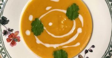 Суп-пюре из батата с кокосовым молоком