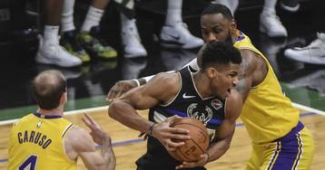 Exhibición de los Bucks de Anteto en el duelo en la cima ante los Lakers