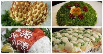 5 классных идей новогоднего оформления традиционных праздничных салатов