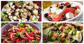 5 классных идей вкусных салатов на замену майонезным