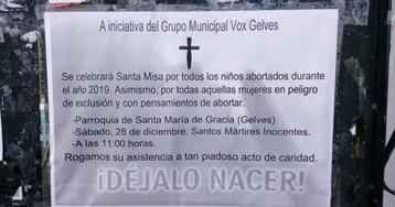 """Vox organiza en una iglesia de Sevilla una misa en memoria de los """"niños abortados"""""""