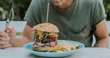 Plant-based burgers will make men grow boobs, Livestock News reports