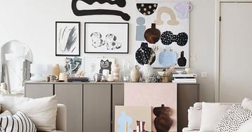 Красивая квартира художницы в Стокгольме