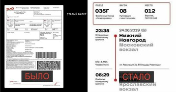 Из новых билетов РЖД исчезла просьба к пассажирам нижних полок