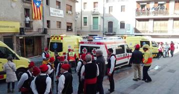 Tres heridos graves en una fiesta local de Centelles por una explosión de pirotecnia