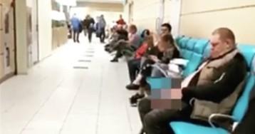 В Сети пытаются опознать мужчину, который справил нужду в зале аэропорта