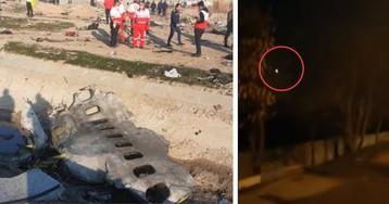 Опубликовано видео крушения украинского «Боинга» в Иране