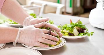Перчатки во время готовки