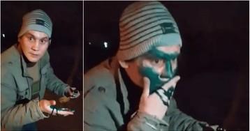 Таксисты заставили пассажира умыть лицо зеленкой и сняли на видео