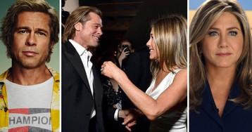 Брэд Питт и Дженнифер Энистон снова выглядят как влюблённые (ФОТО)