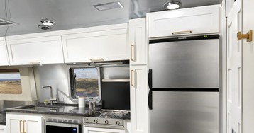 """Airstream's New """"Comfort White"""" Travels In Style"""