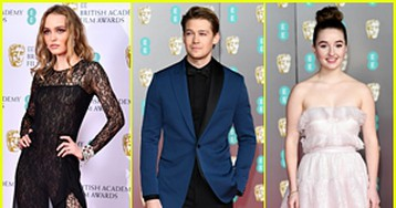Lily-Rose Depp Stuns in Lace at BAFTAs 2020 With Joe Alwyn & Kaitlyn Dever