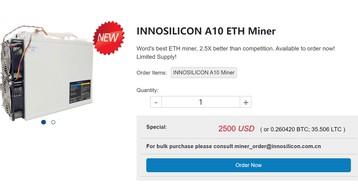 Innosilicon A10 для добычи Эфириума: прибыльность майнинга, окупаемость и настройки