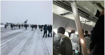 """Самолет """"Ютейр"""" с 94 людьми сел в Усинске без шасси"""