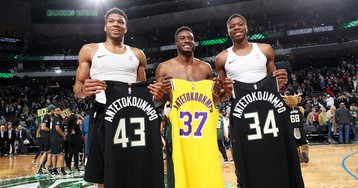 Giannis Antetokounmpo Says It Would Be 'Amazing' to Play With Brothers in L.A. or Milwaukee