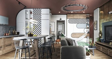 Проект недели:  квартира, не похожая на то, что вы видели раньше