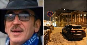 Закон не писан: Боярский оставил машину прямо на Зимнем мосту