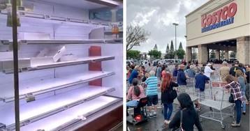 Пустые полки: как выглядят магазины Европы и Америки из-за коронавируса