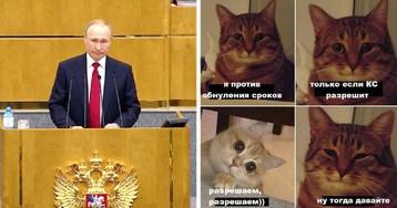 «Обнуляй и властвуй». Как Рунет отреагировал на обнуление президентских сроков