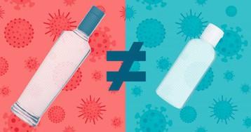 Почему не стоит делать антисептик для рук из водки
