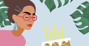 35 красивых поздравлений с днём рождения для девушки