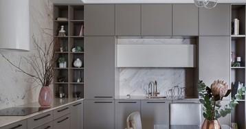Красивая квартира с большой кухней и мебелью на заказ