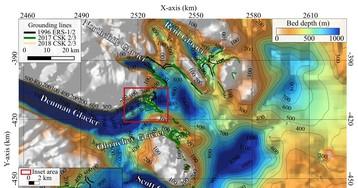 Отступающий ледник над самым глубоким каньоном Антарктиды